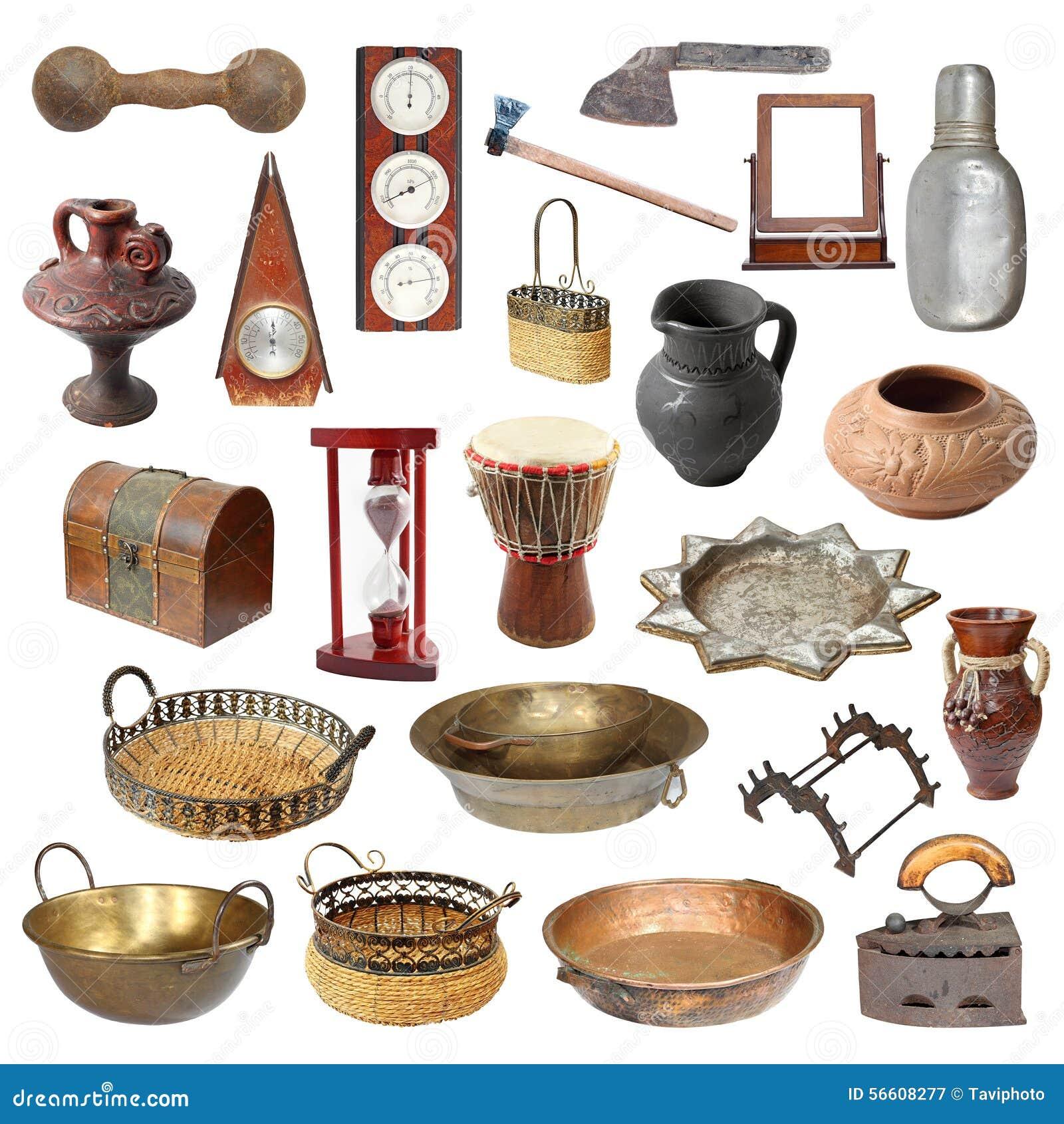 molti oggetti isolati fotografia stock libera da diritti  - raccolta di vecchi oggetti isolati stagionati fotografia stock libera dadiritti