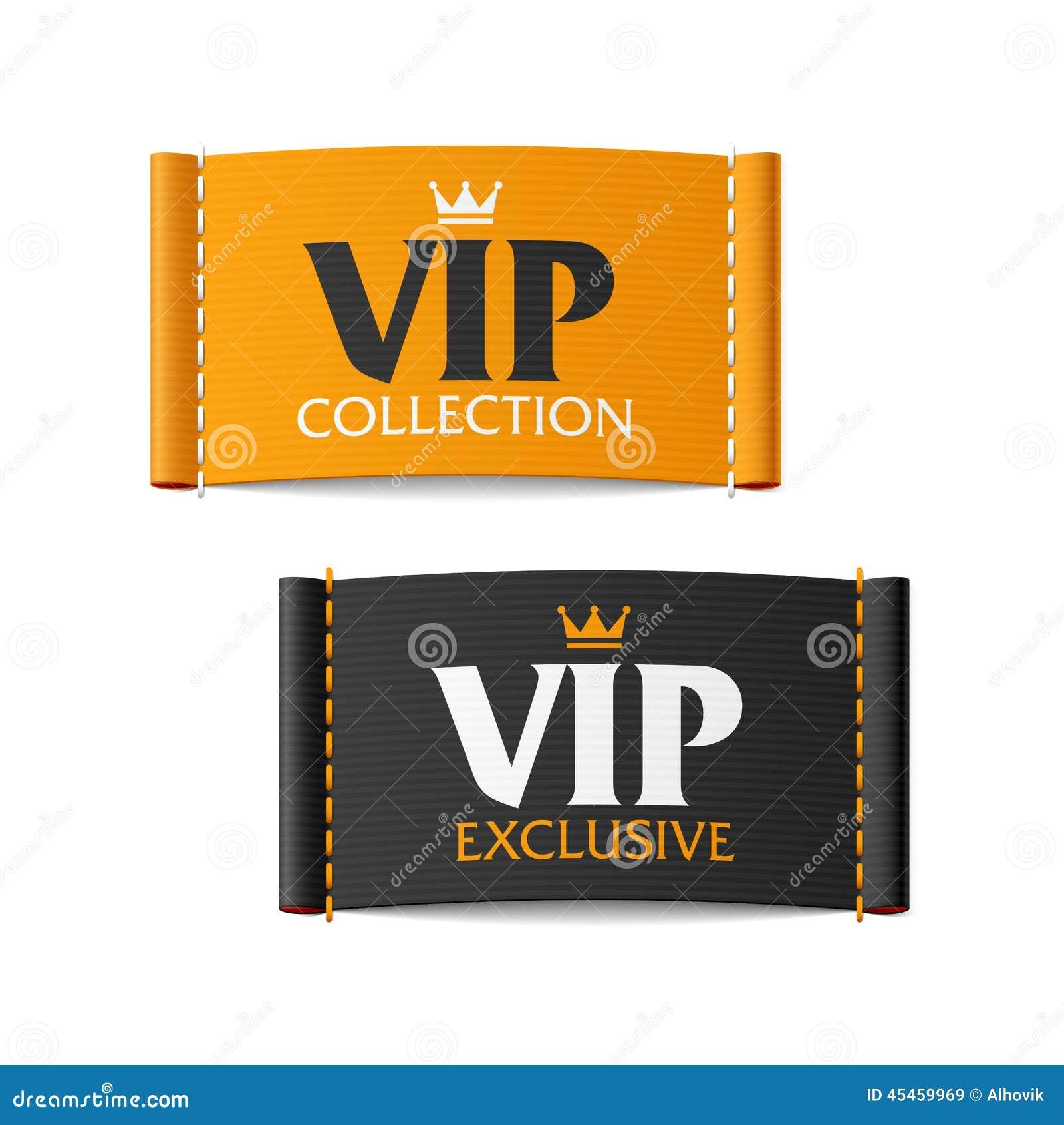 Raccolta di VIP ed etichette esclusive di VIP