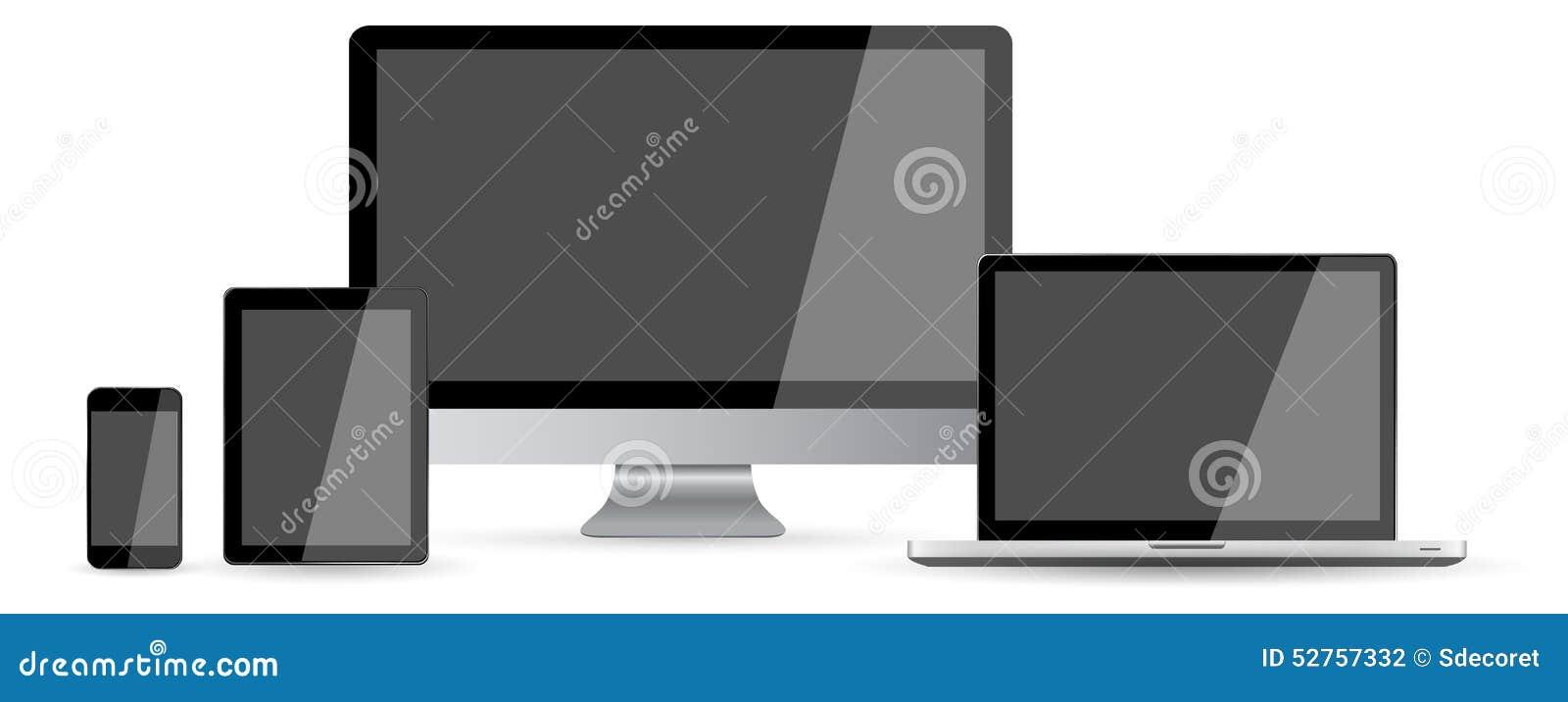 Raccolta digitale moderna del dispositivo di tecnologia