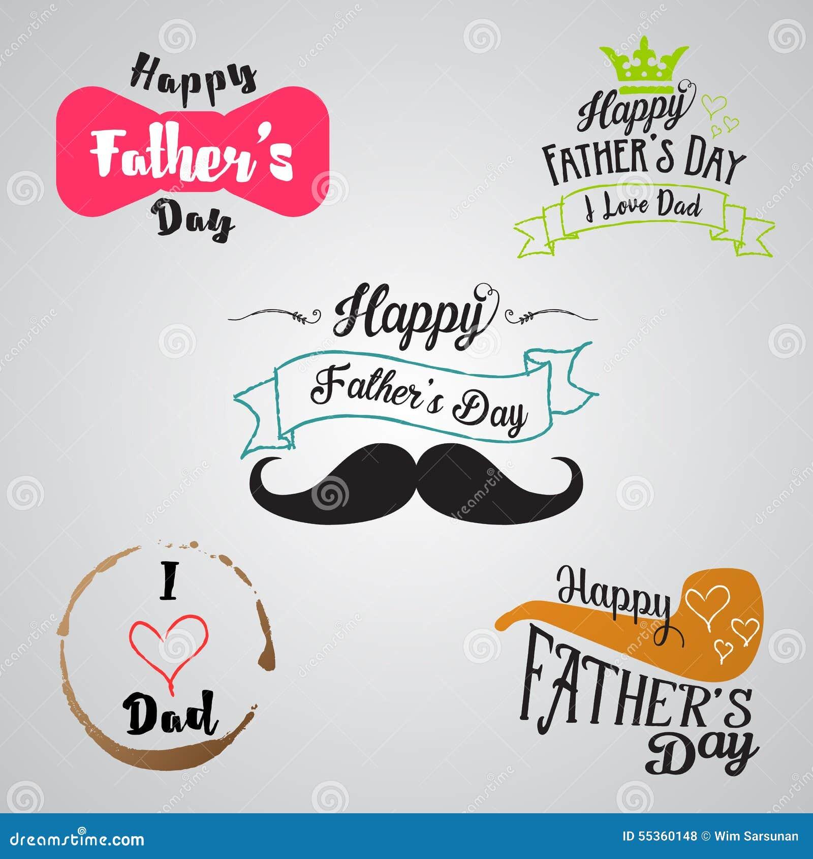 Raccolta felice del fondo di giorno di padri