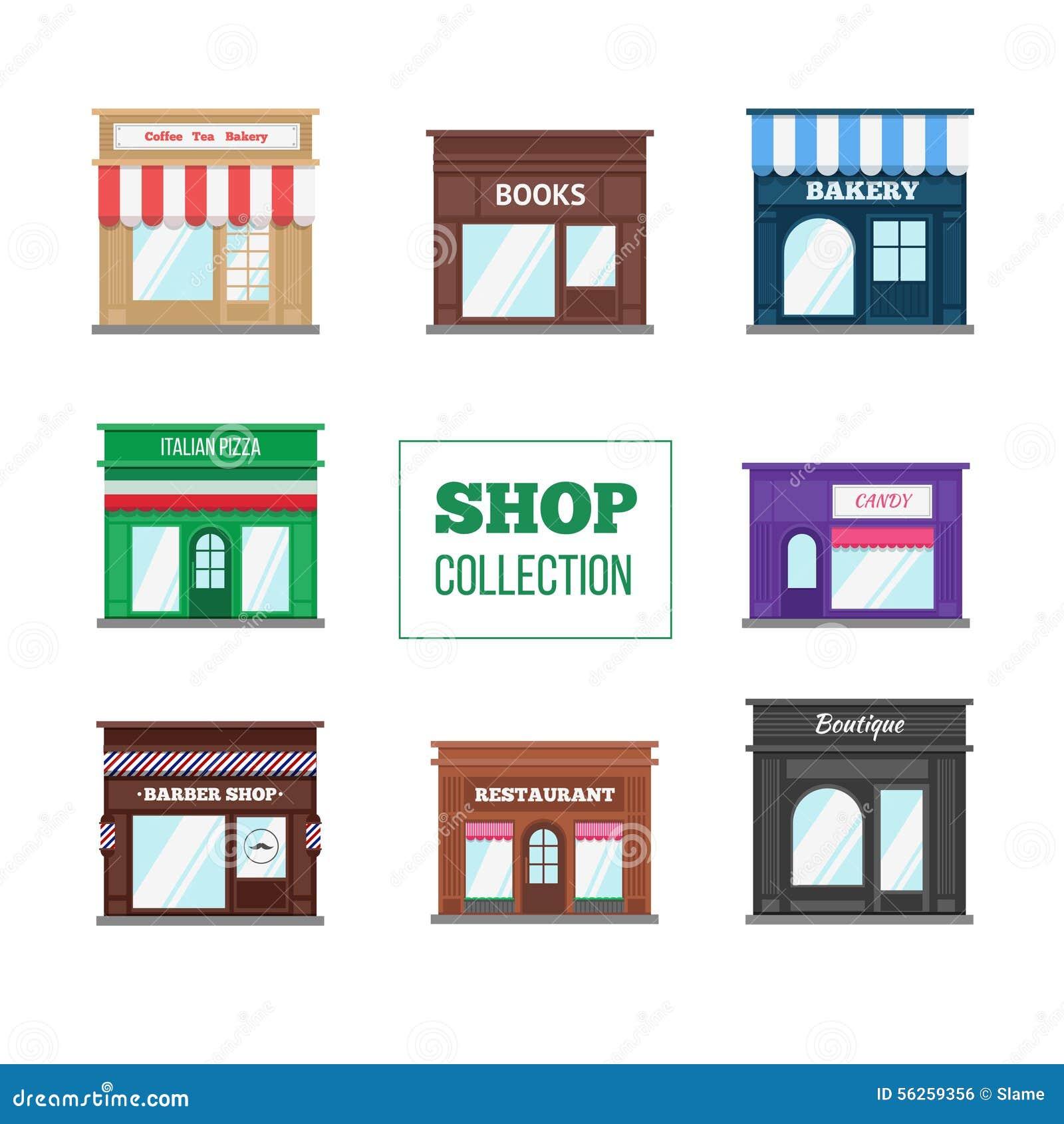 Raccolta piana dei depositi e dei negozi