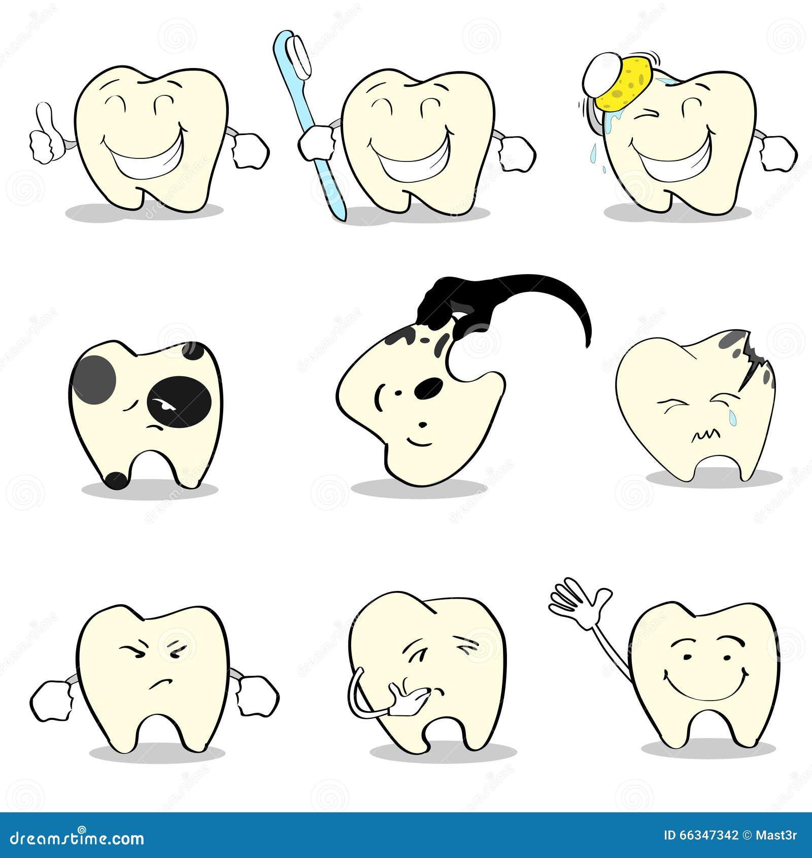 Raccolta stabilita di sanità dentaria dei denti