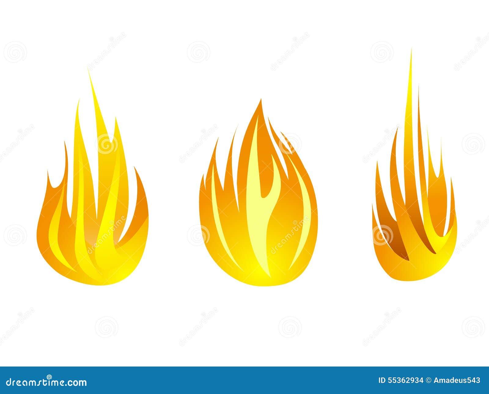 Raccolta stabilita di simbolo di progettazione dell illustrazione di vettore dell icona del fuoco