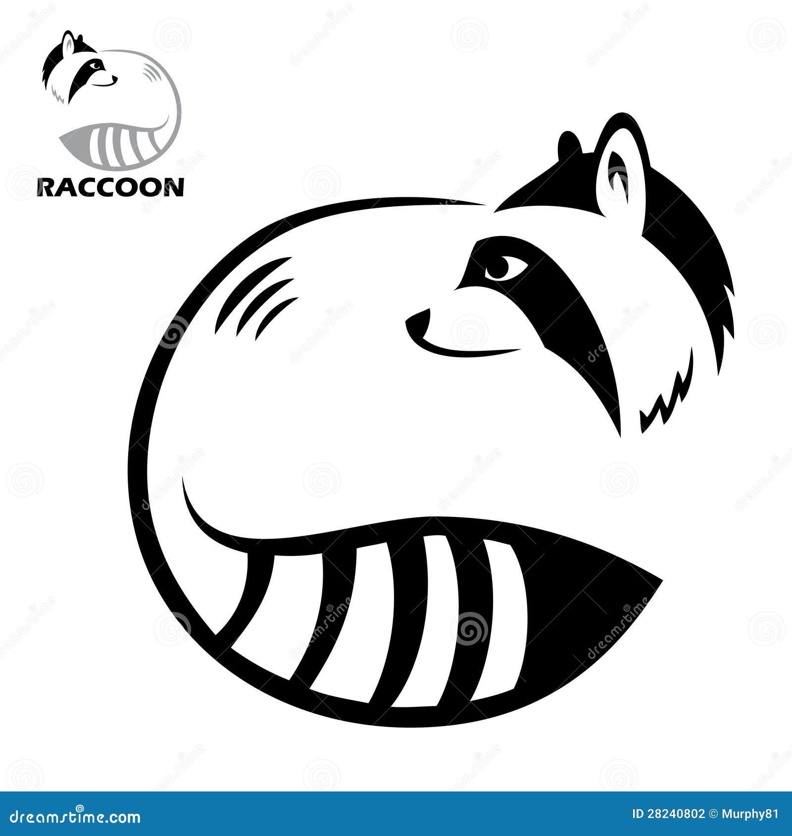 Raccoon Label Stock Photography - Image: 28240802 Raccoon Face Clip Art