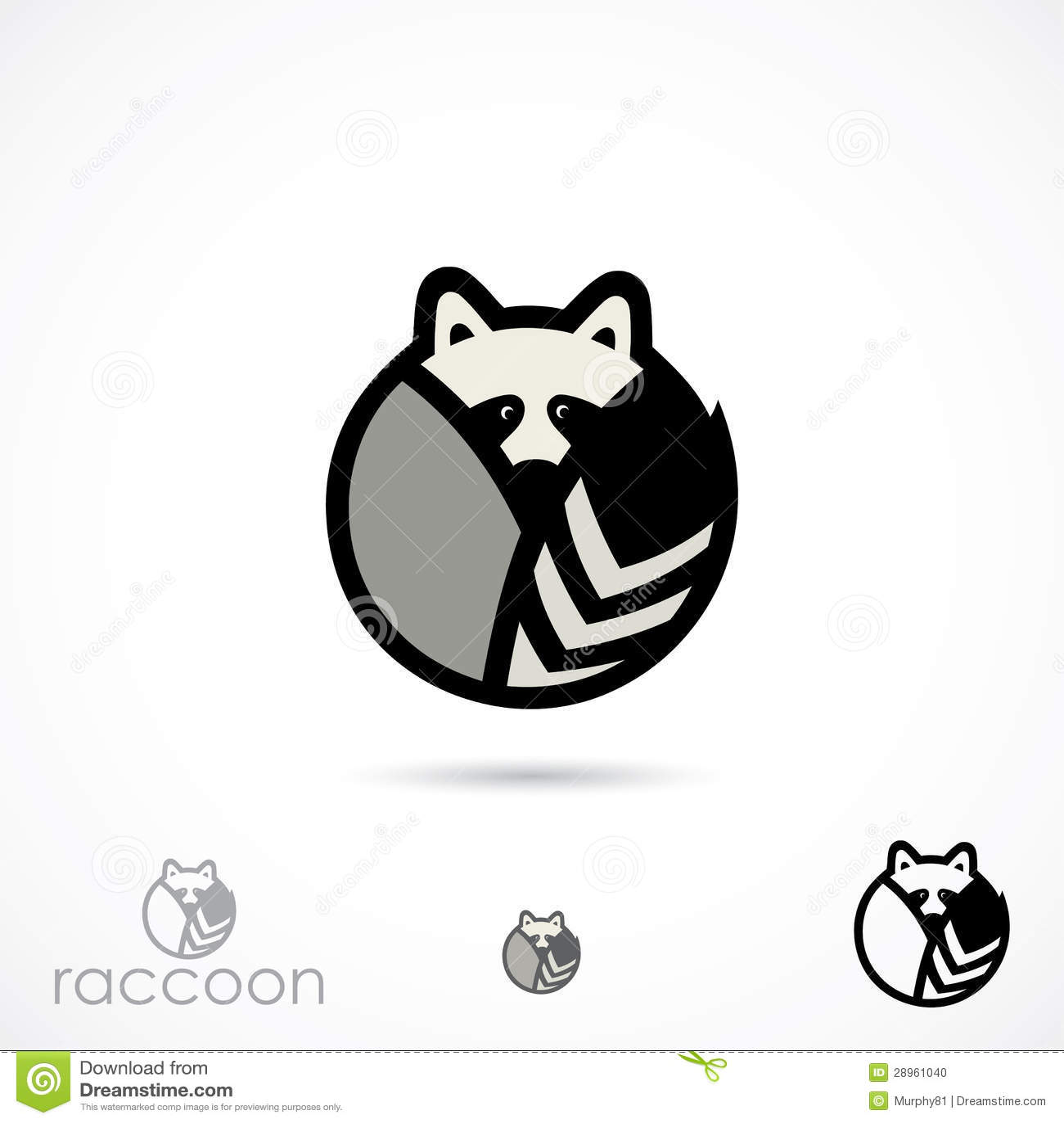 Raccoon Symbol Stock Photo - Image: 28961040