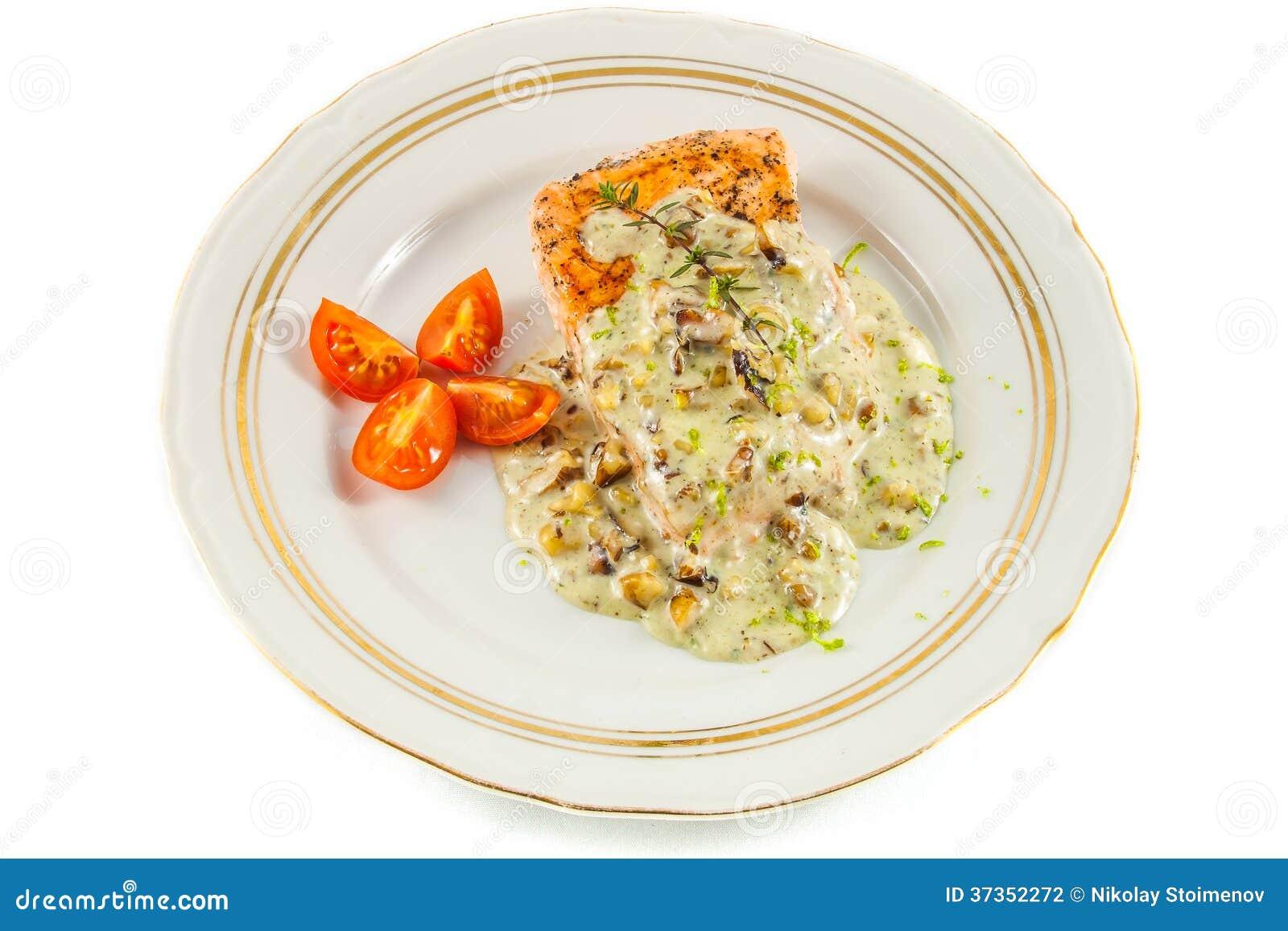 Raccordo di color salmone fritto