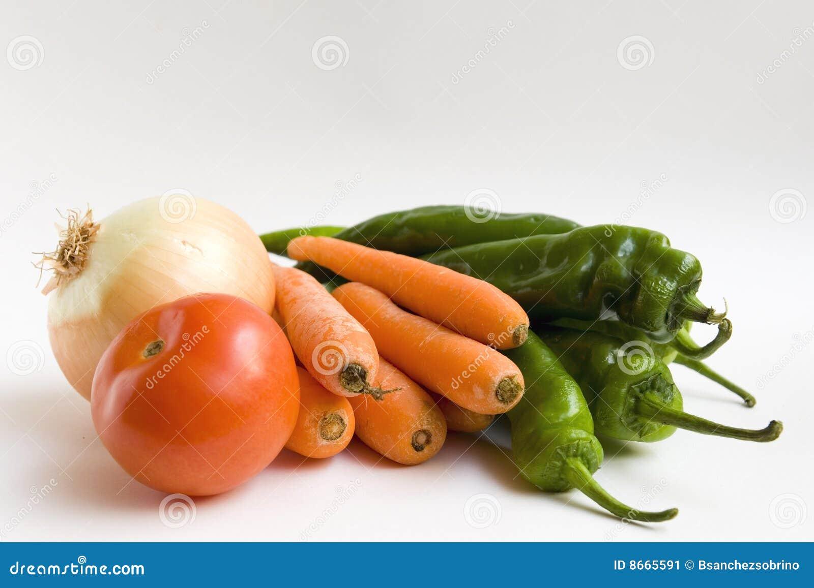 Raccords en caoutchouc, oignon, tomate et poivrons
