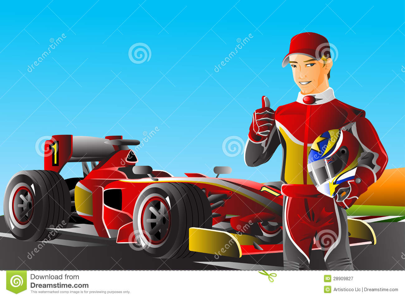 Race Car Driver Royalty Free Stock Photography Image