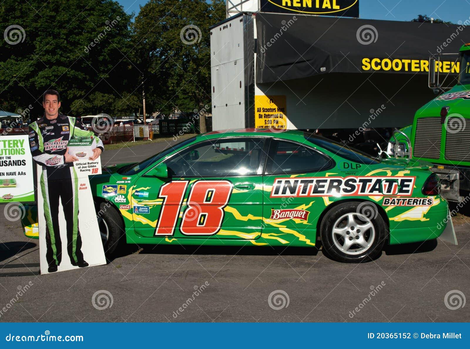 Race Car Driver Kyle Busch S Car Editorial Photography Image