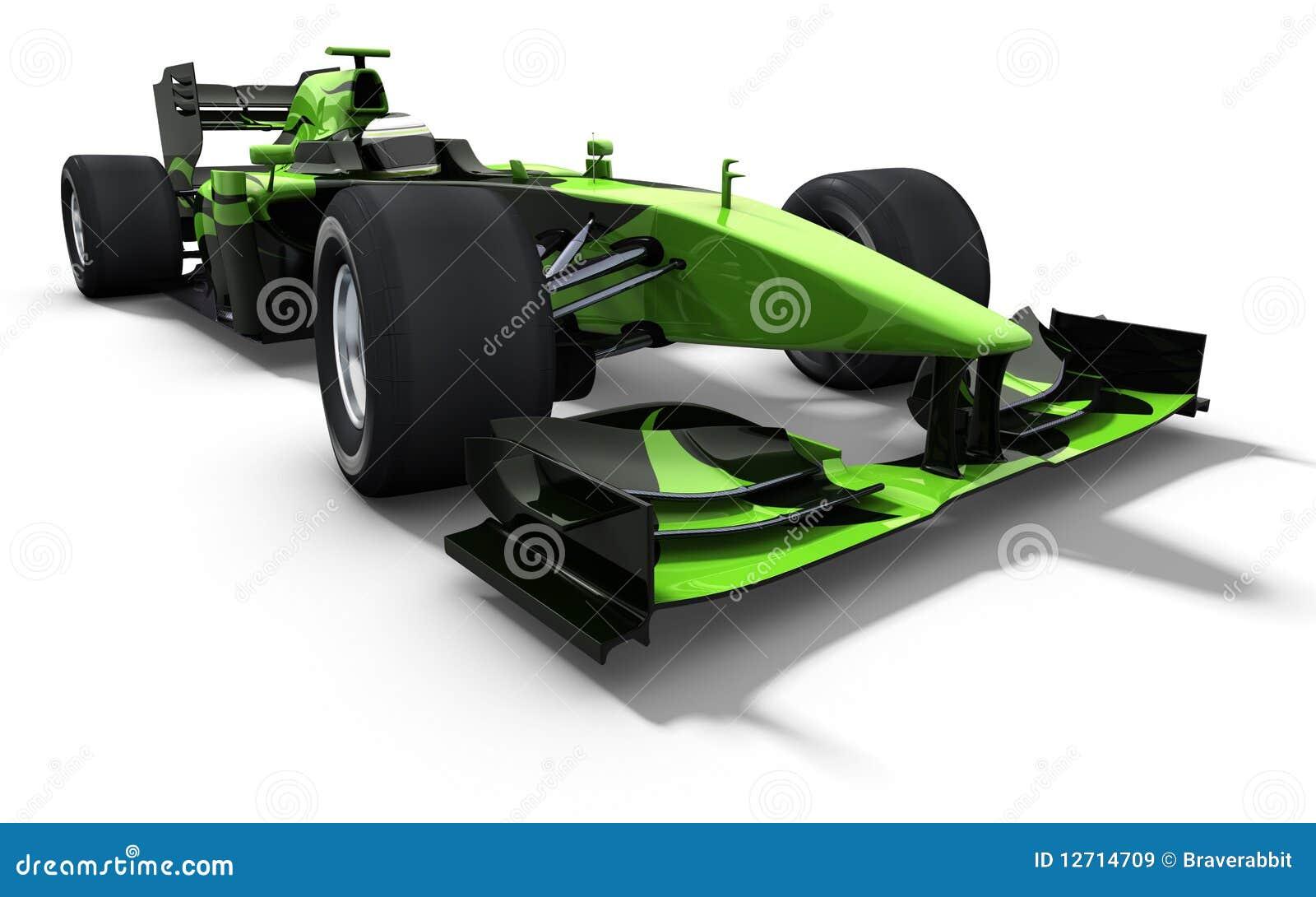 Race car - green and black stock illustration. Illustration of auto ...