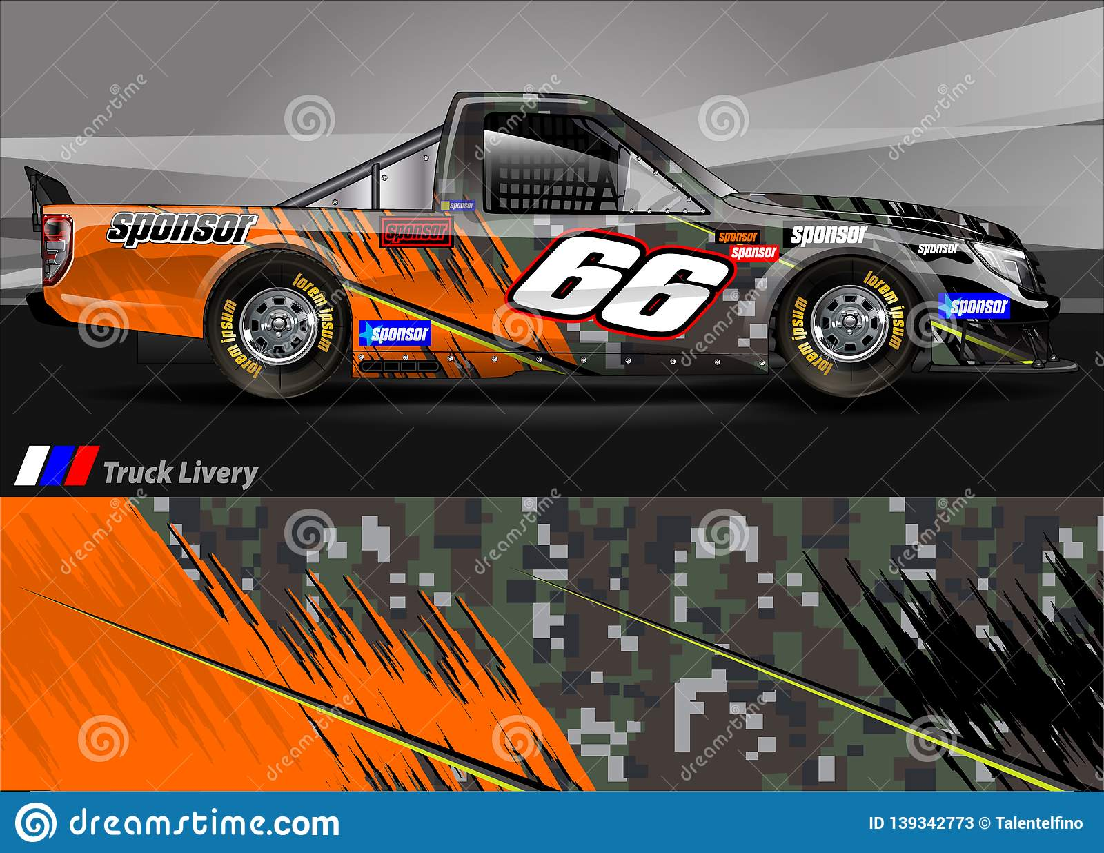 12949989df Race car livery graphic . abstract grunge background design for vehicle  vinyl wrap and car branding