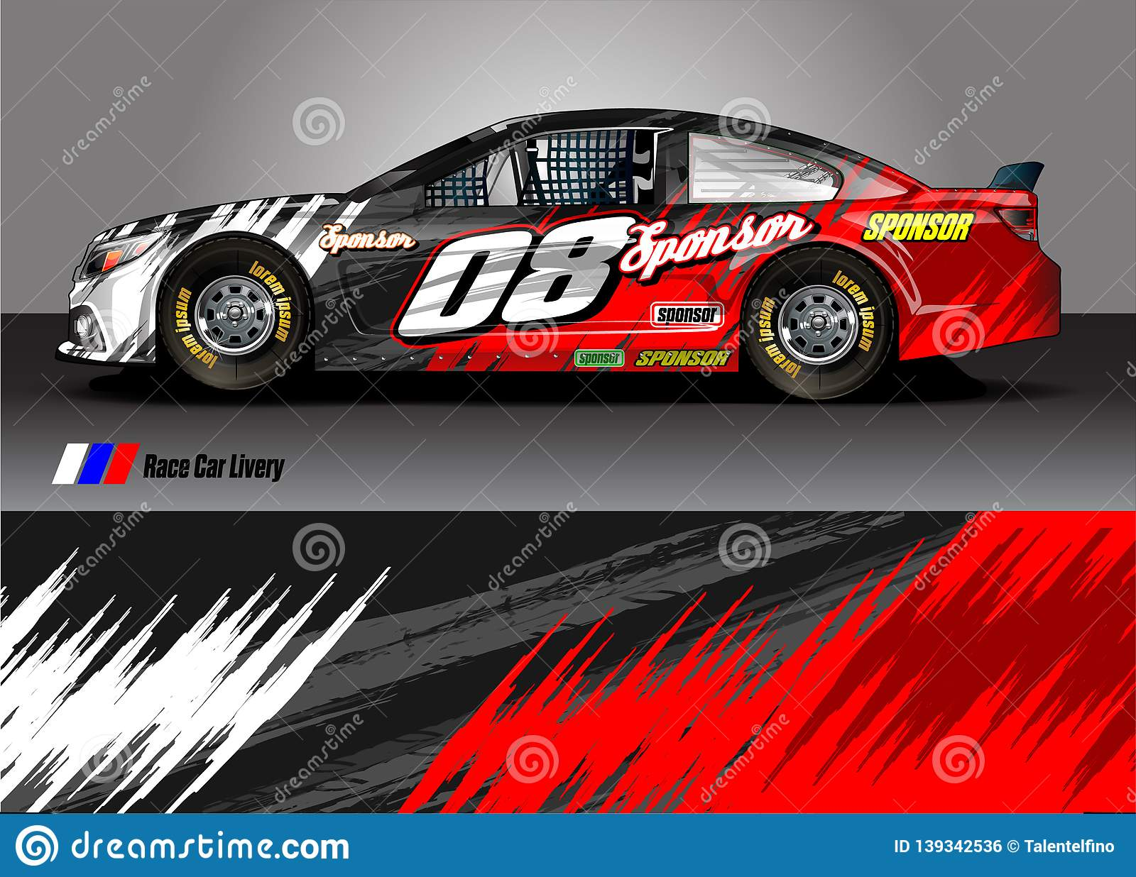 Race Car Livery Graphic   Abstract Grunge Background Design