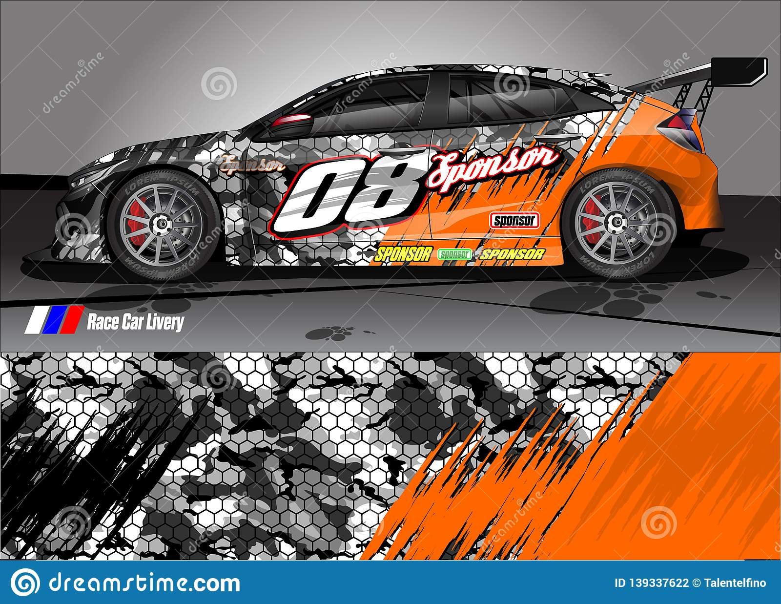 Race Car Livery Graphic Vector Abstract Grunge Background Design For Vehicle Vinyl Wrap And Car Branding Stock Vector Illustration Of Flames Graphics 139337622