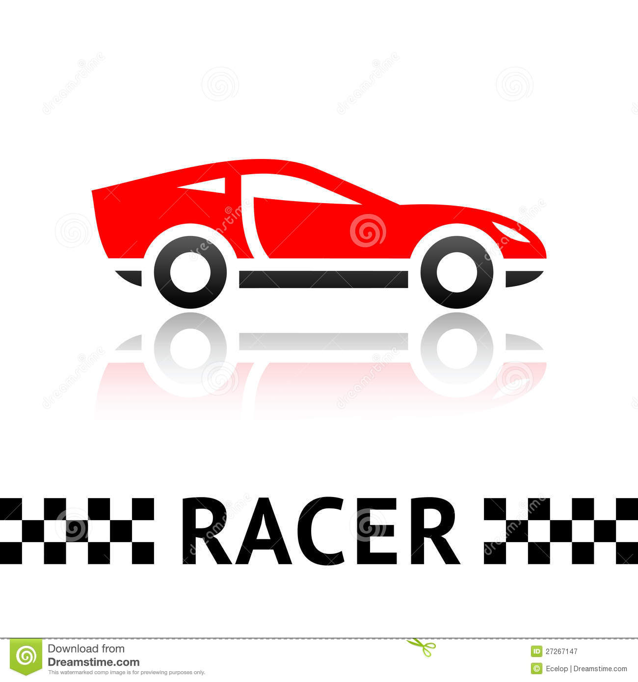Race Car Symbol Royalty Free Stock Photography - Image: 27267147