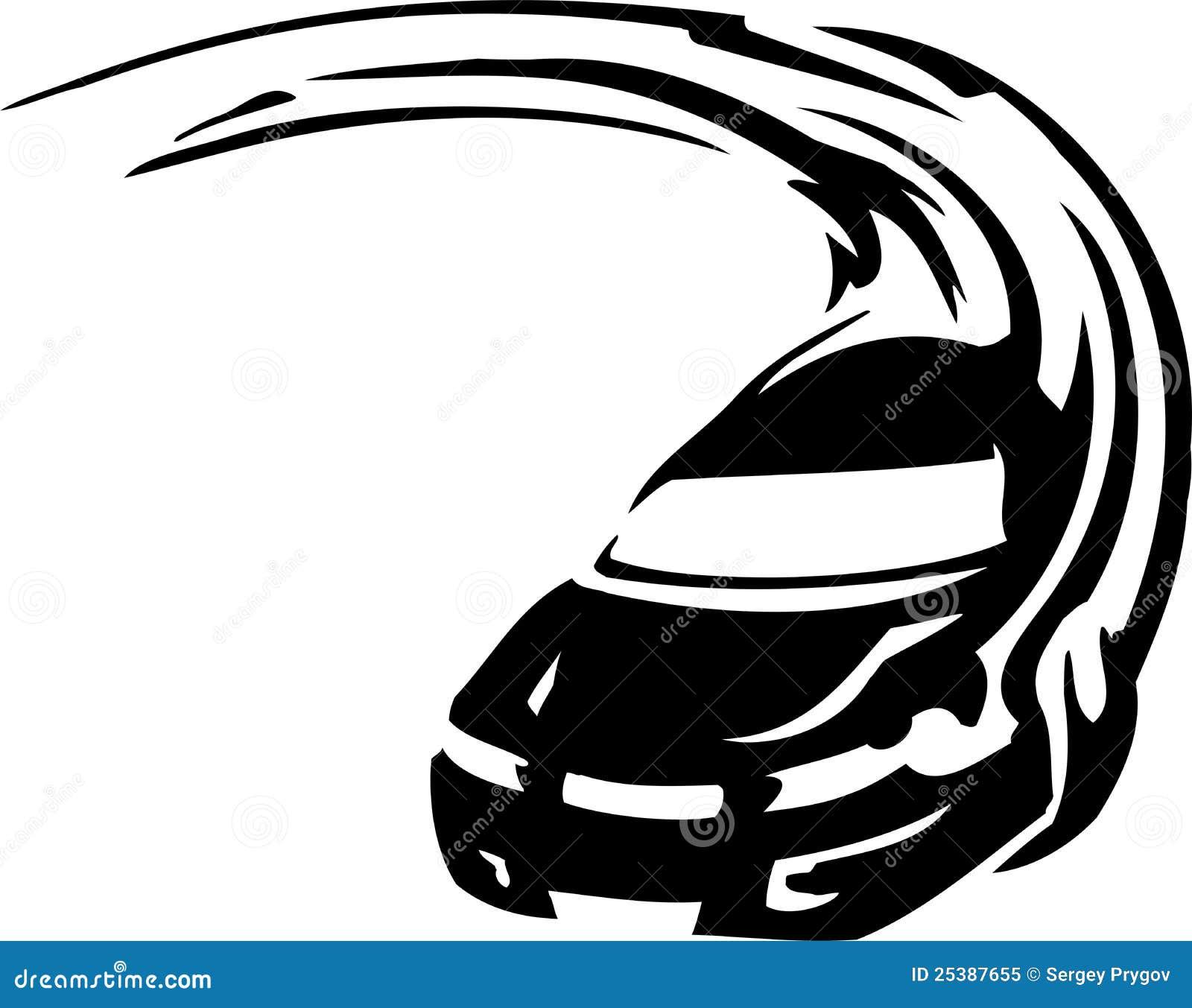An Outline Of A Race Car