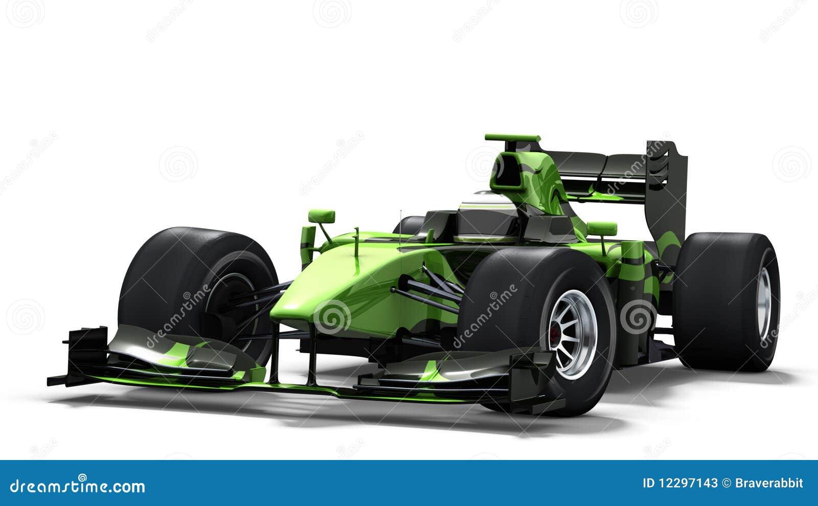 race car on white black amp green stock photos image