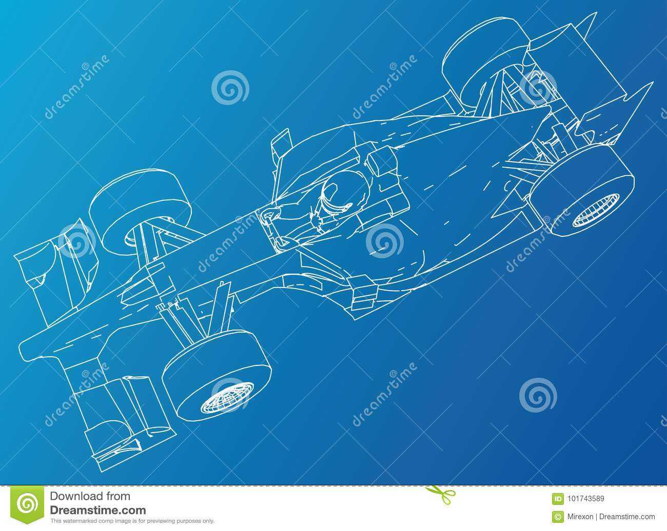 Race Car Wire Frame Eps10 Format Vector Created Of 3d Stock Basic Chassis Wiring Schematic