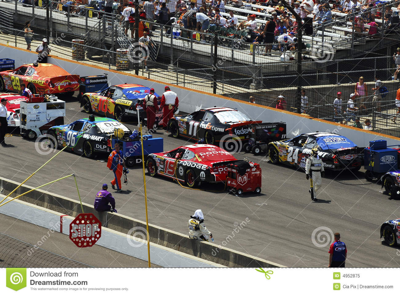 Race Cars Lined Up On Track Editorial Image Image