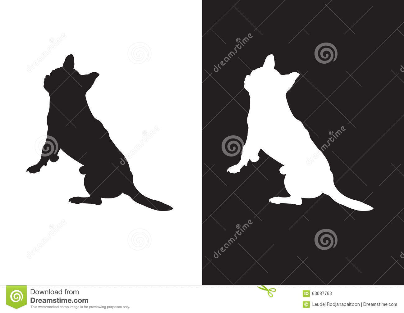 Download Race De Chien De Chiwawa - L'illustration Courante Silhouettez Vector†«  Illustration de Vecteur - Illustration du geste, écorce: 63087763