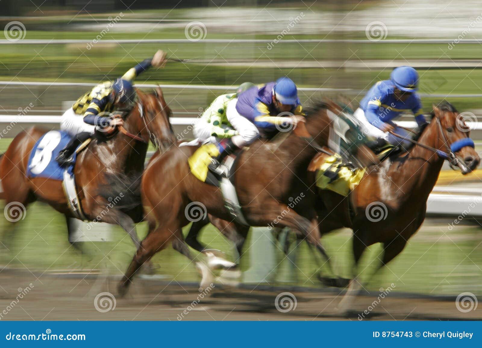 Race för blurhäströrelse