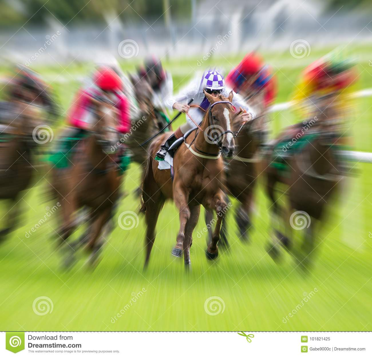 Race Horse Galloping Motion Blur Editorial Image