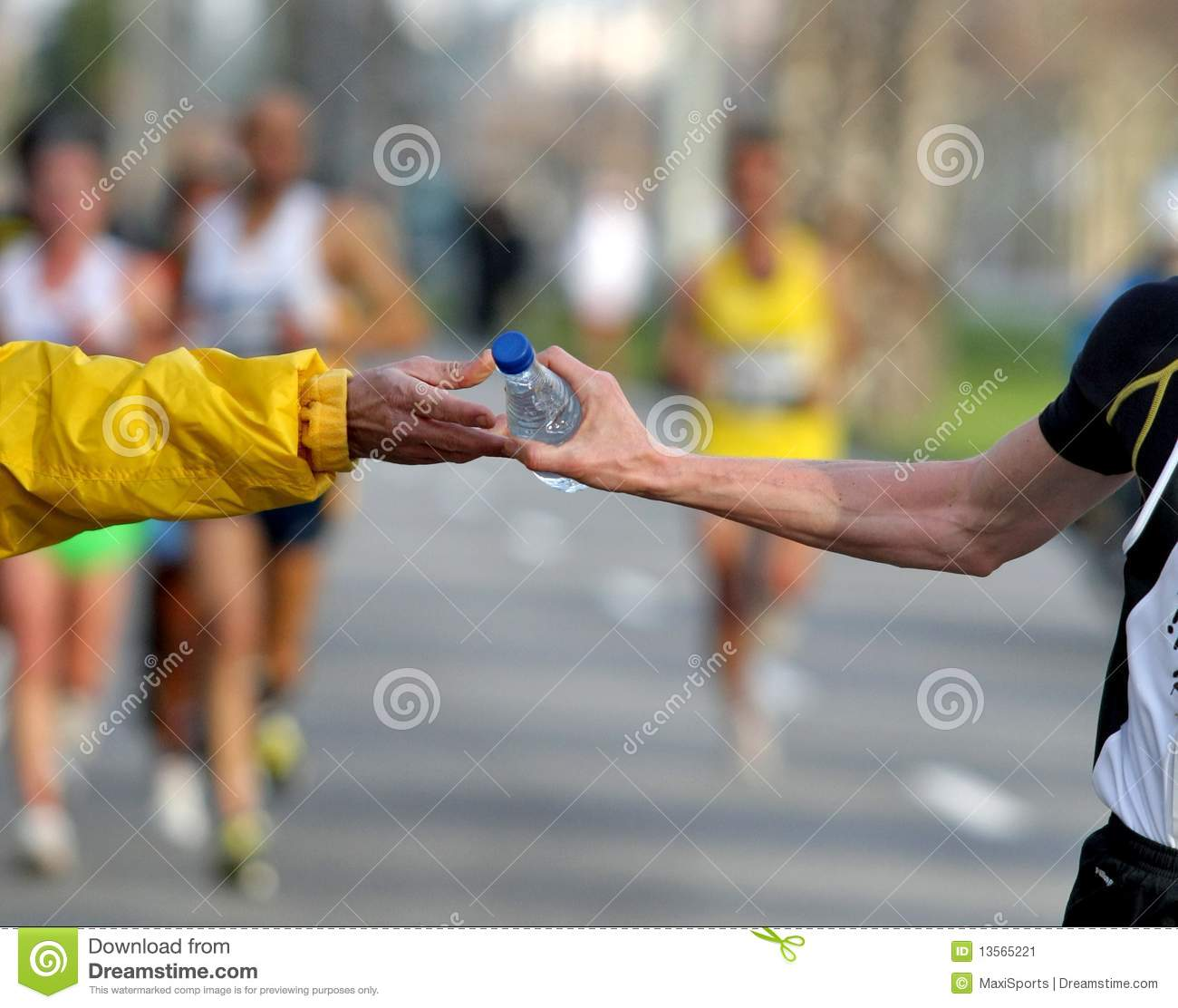 Race Refreshment Stock Photography