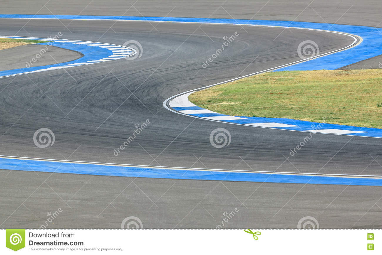 Race track curve road for car / motorcycle racing