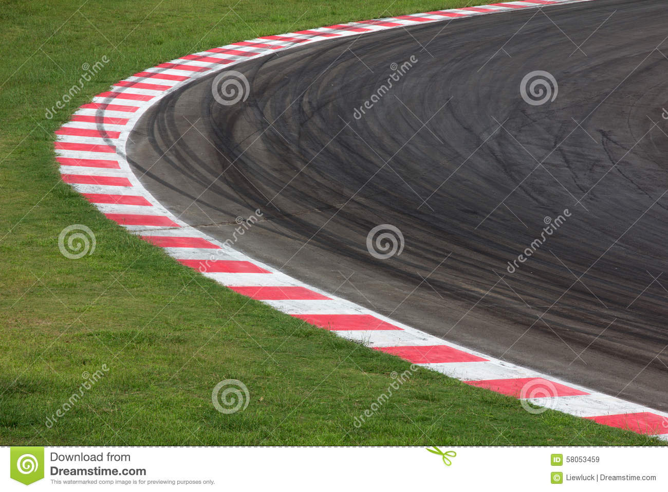 race car track race track curve road stock photo image 58053459 30403
