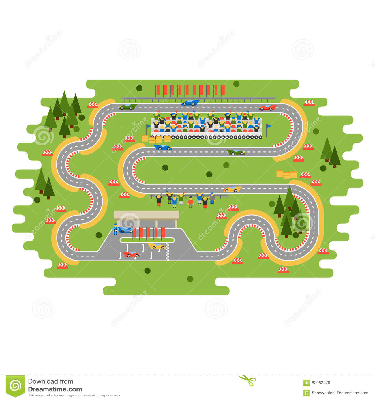 Race Track Curve Road Stock Vector Illustration Of Circuit 83082479 Symbols In Top View Car Sport Competition Constructor Transportation Tire Speedway Line Automobile Highway Flare Formula Finish