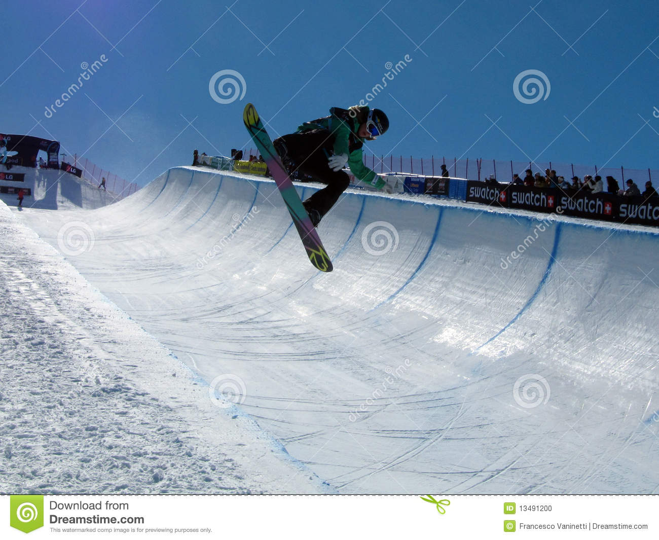 Race World Cup Snowboard Half Pipe Editorial Image Image