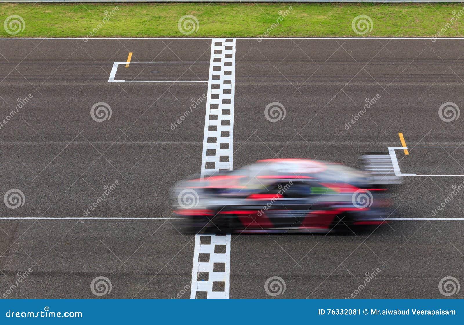 Raceauto het rennen