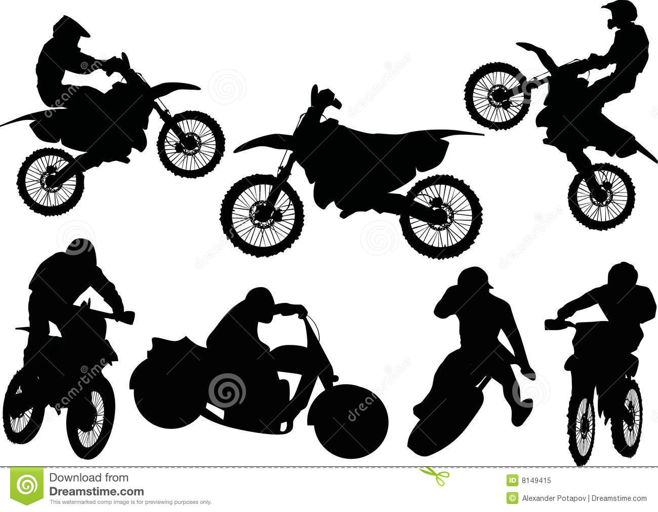 Racer Silhouettes Collection Stock Vector Illustration Of