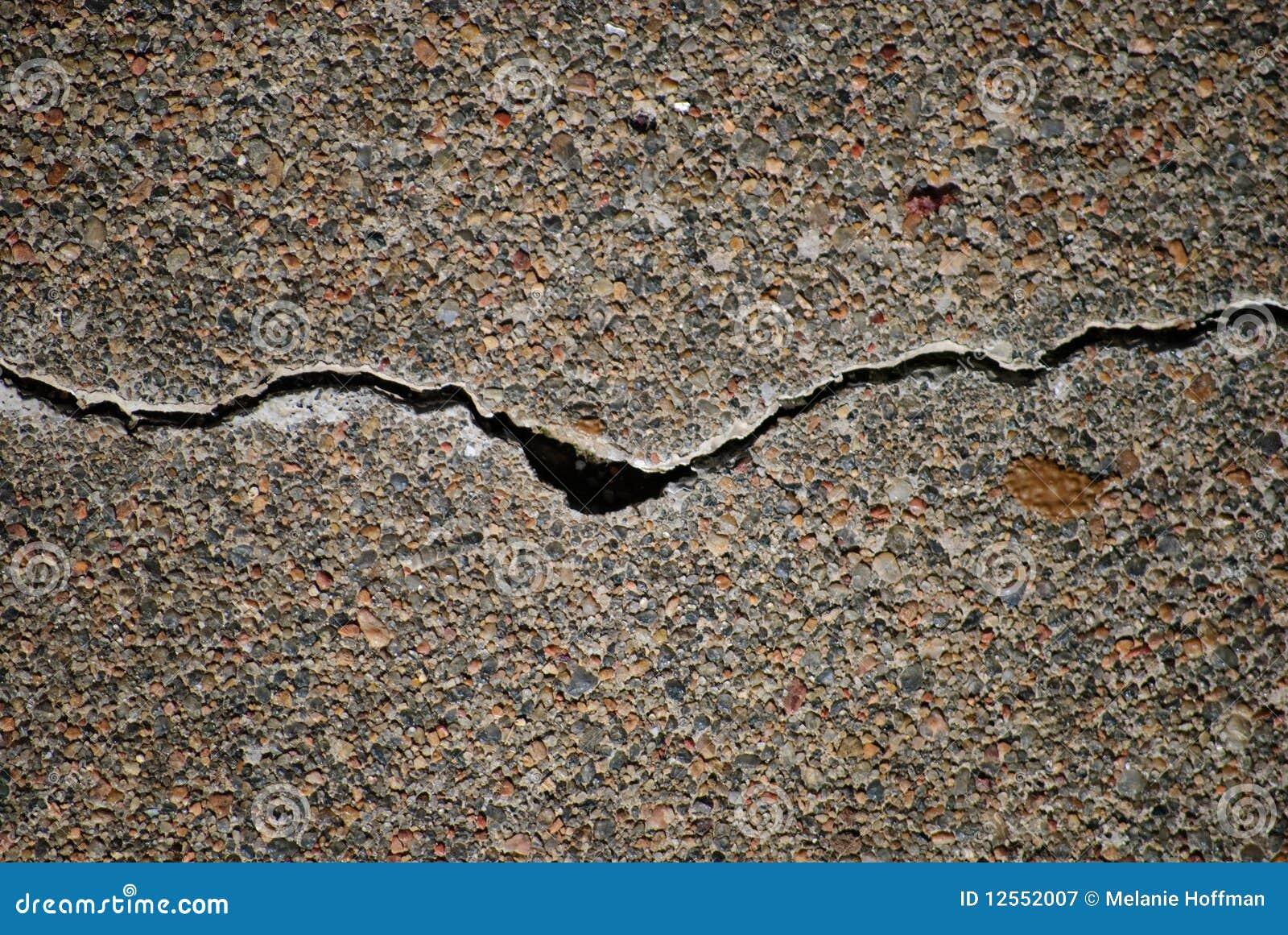 Rachadura no cimento