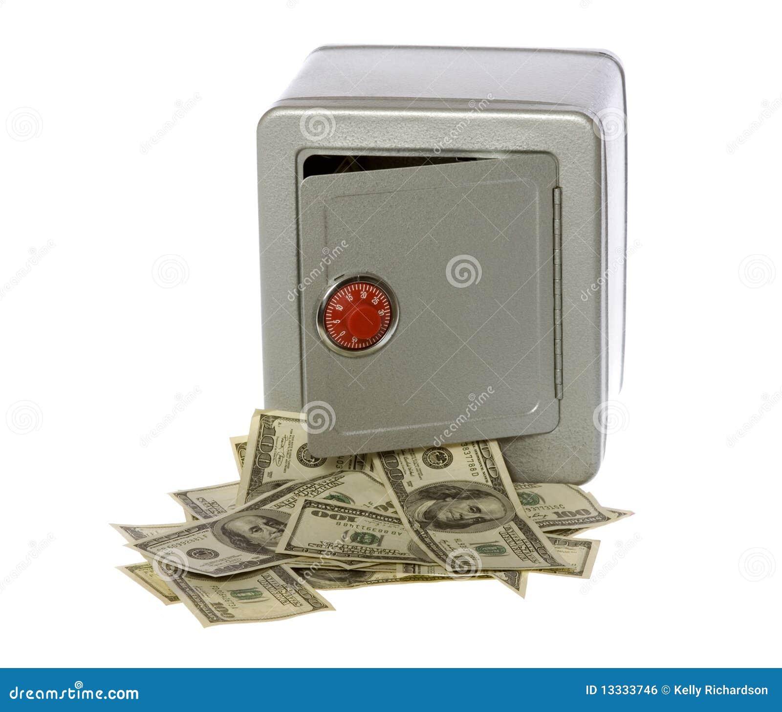 Rachunków dolara sto otwarta skrytka