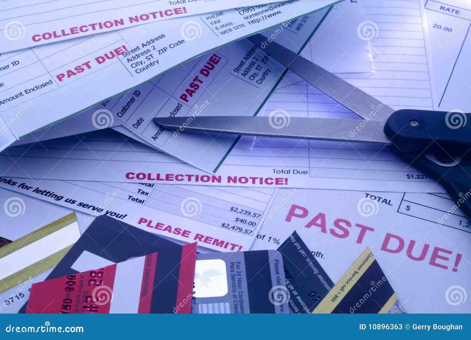 Rachunków kart kredytowi rżnięci nożyce rżnięty