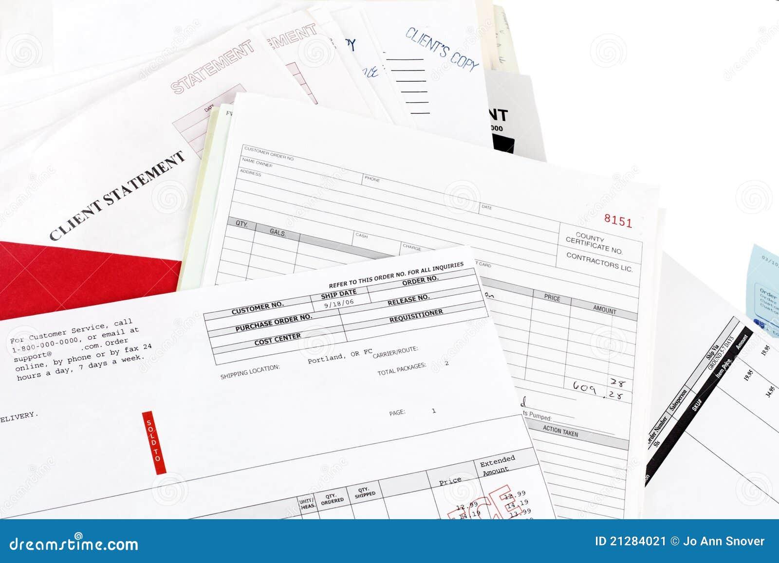 Rachunków sterty oświadczenia