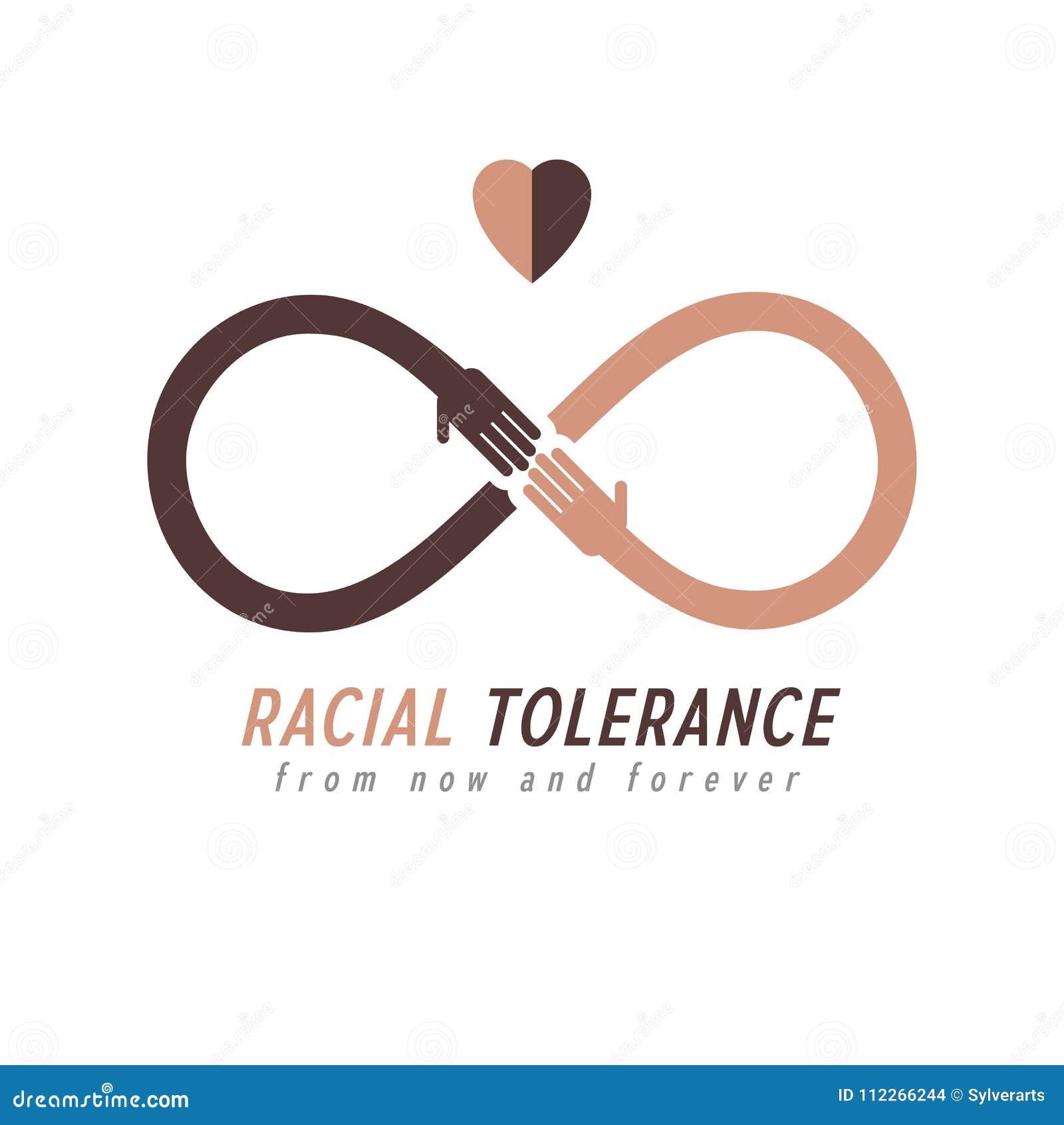 Racial Tolerance between different Nations conceptual symbol, Ma