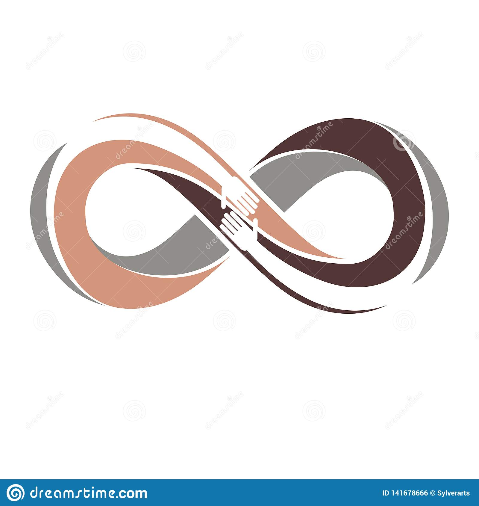 Racial Tolerance between different Nations conceptual symbol, Martin Luther King Day, Zero tolerance, vector symbol created with
