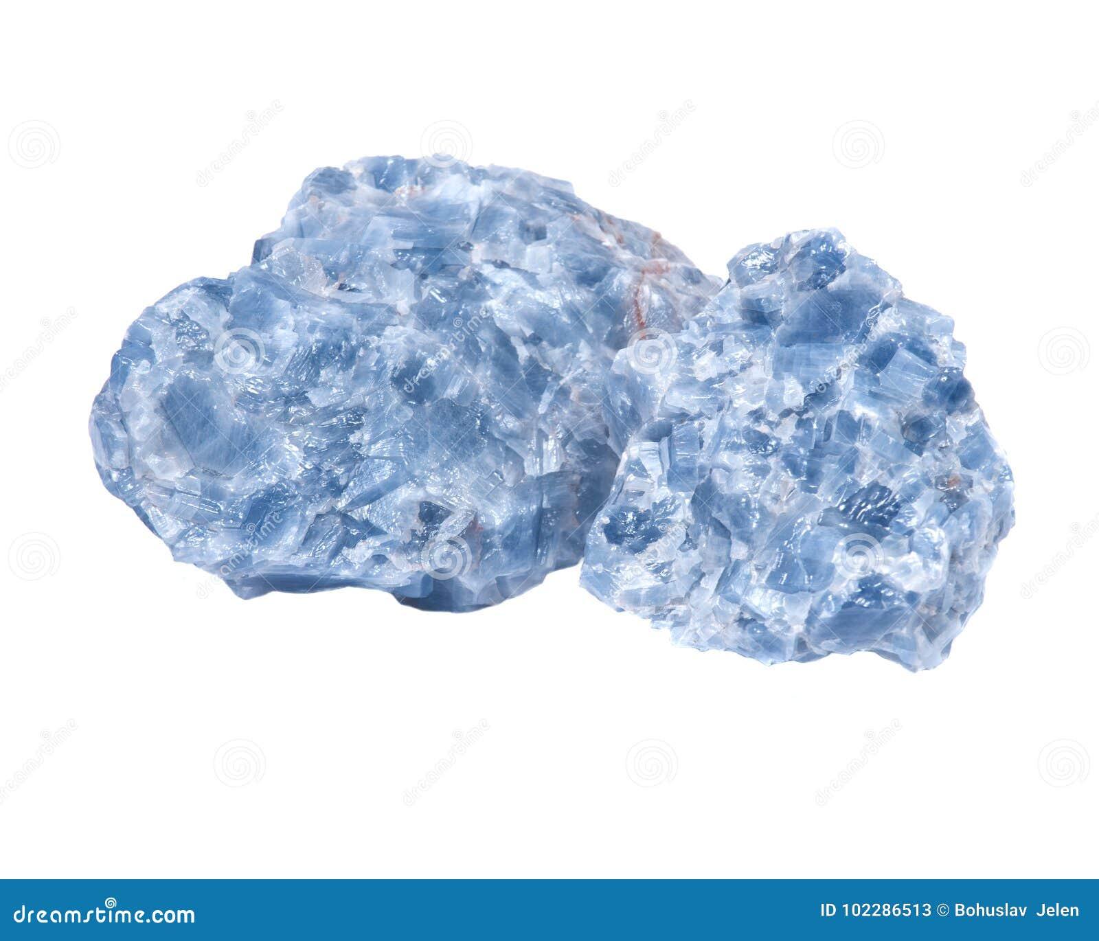 Racimos azules crudos de la calcita