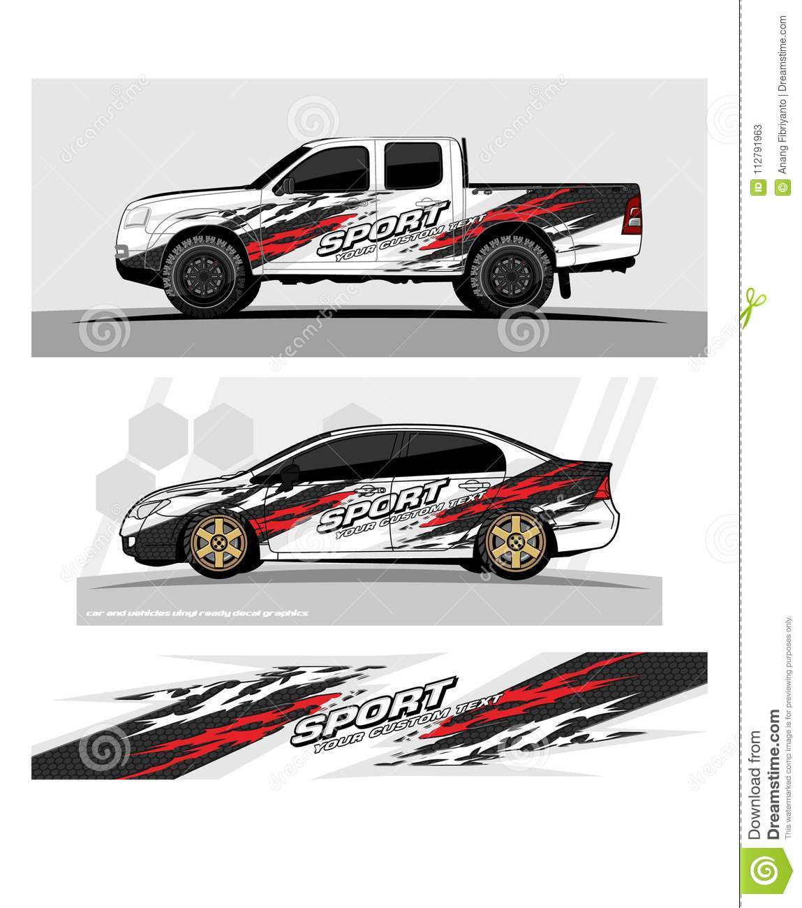 Racing background for car graphic tribal shape with grunge background design for vehicle vinyl wrap