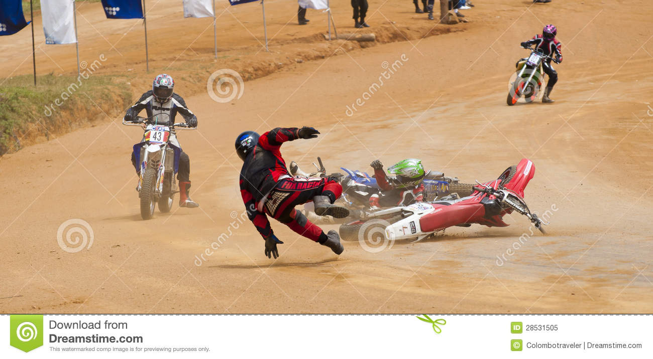 Bikes Racing Accident Racing bike accident Editorial