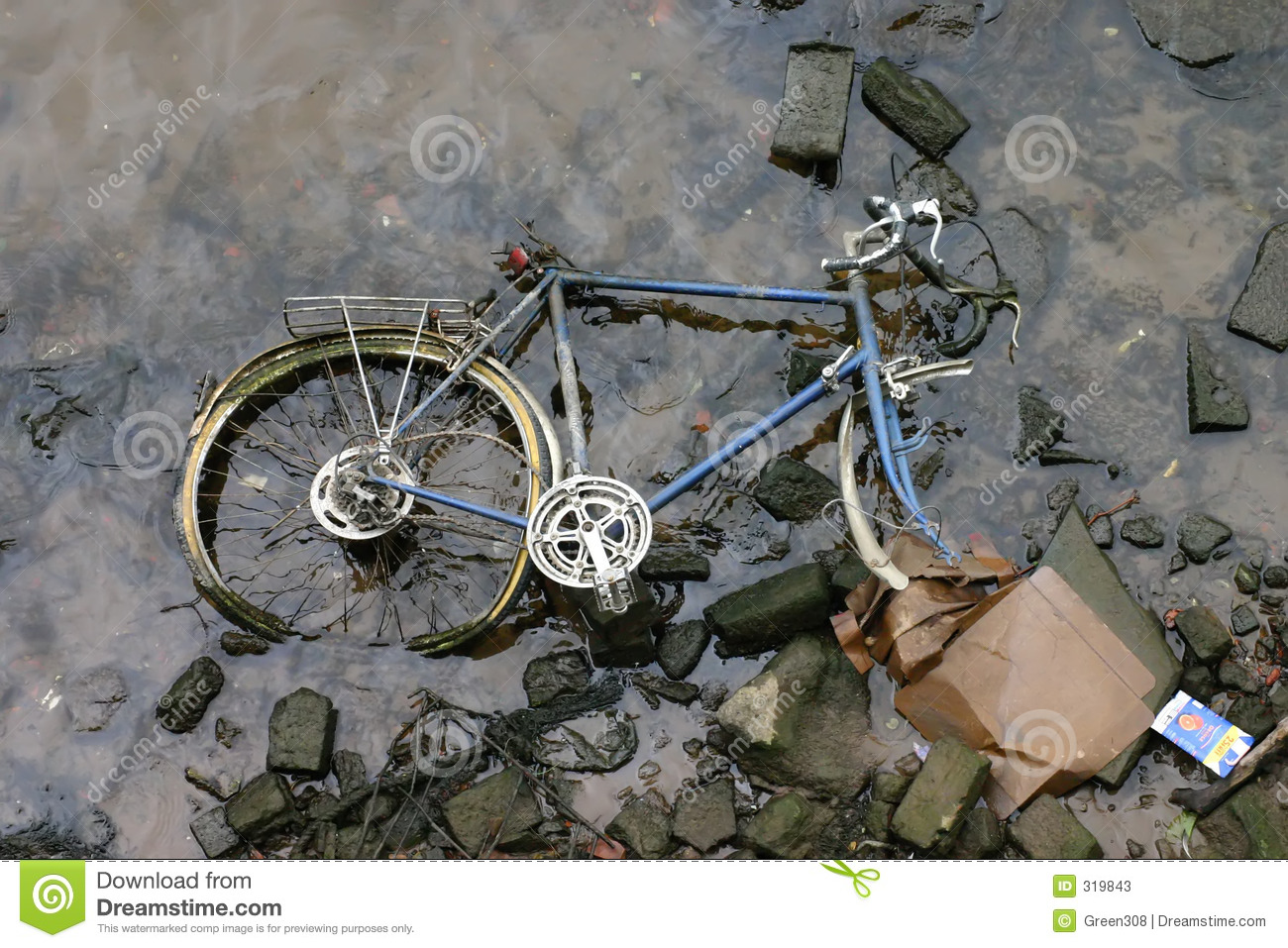 Racing Bike In River Stock Image Image Of Blue England 319843