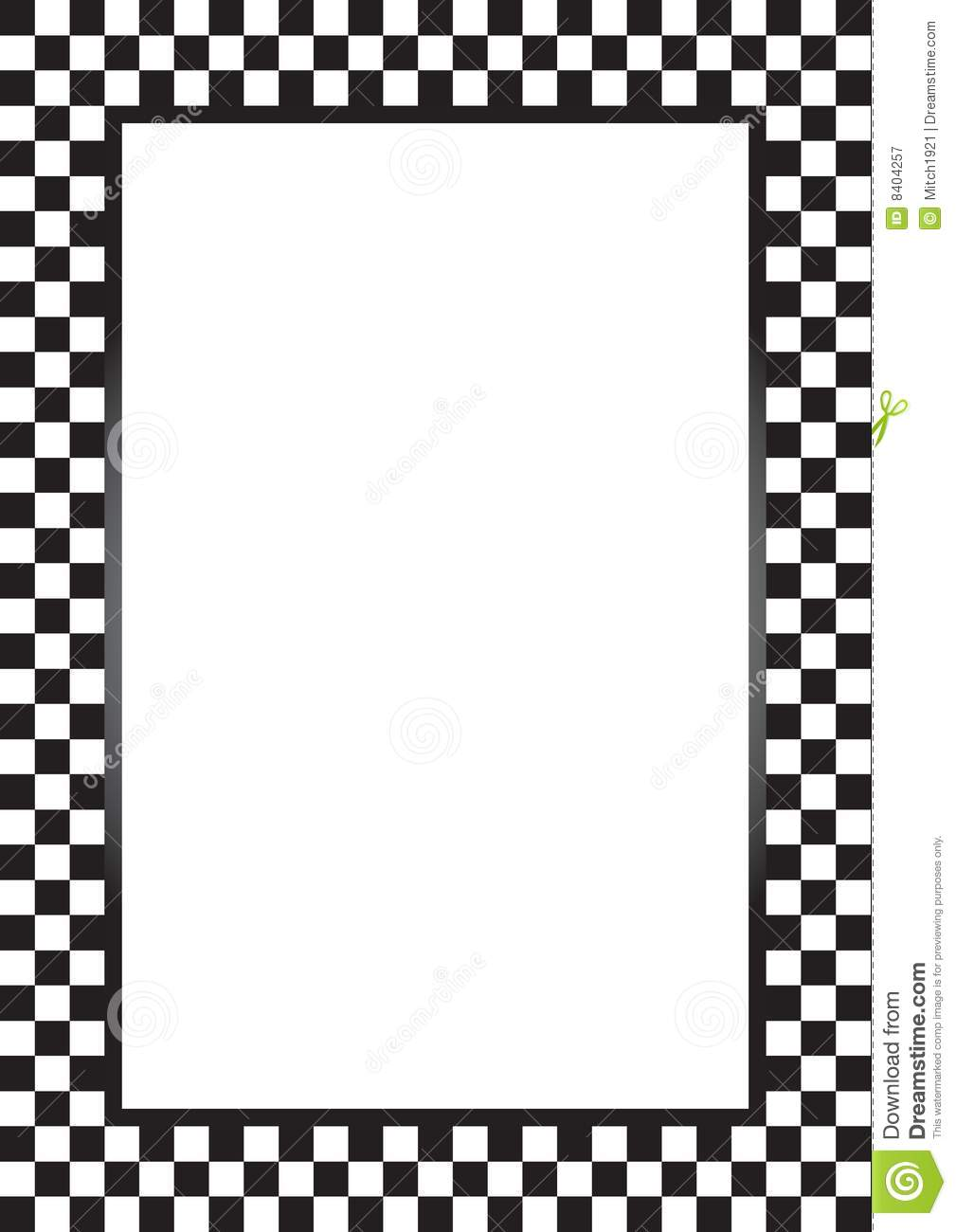 Royalty Free Stock Photography Racing Border Image8404257 on Black Checkered Border