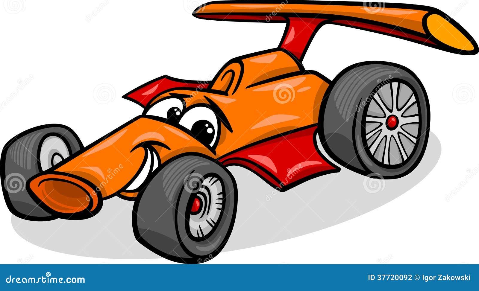 racing car bolide cartoon illustration stock vector. Black Bedroom Furniture Sets. Home Design Ideas