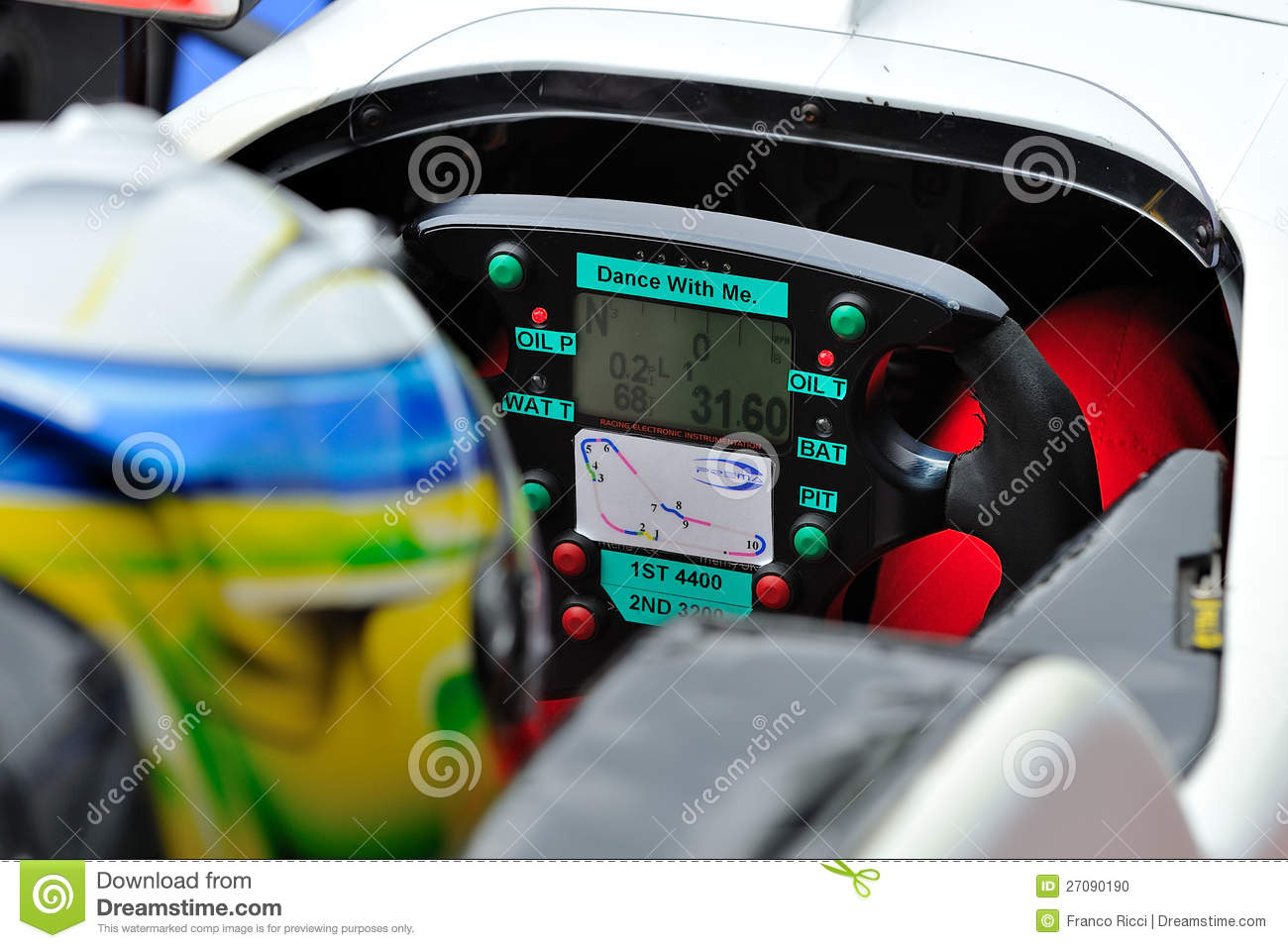 Racing Car Driver In Monza Race Track Editorial Image