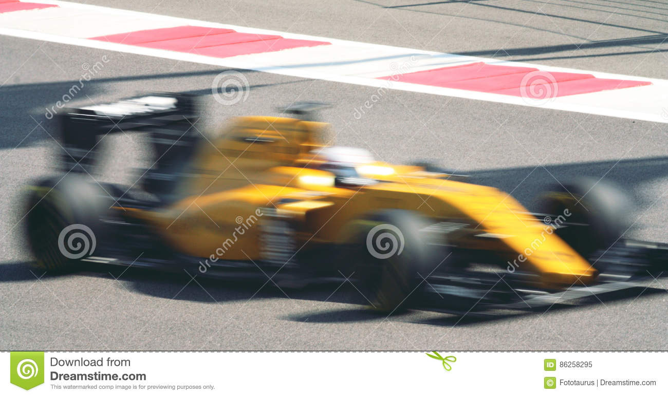 Fast car in motion blurred