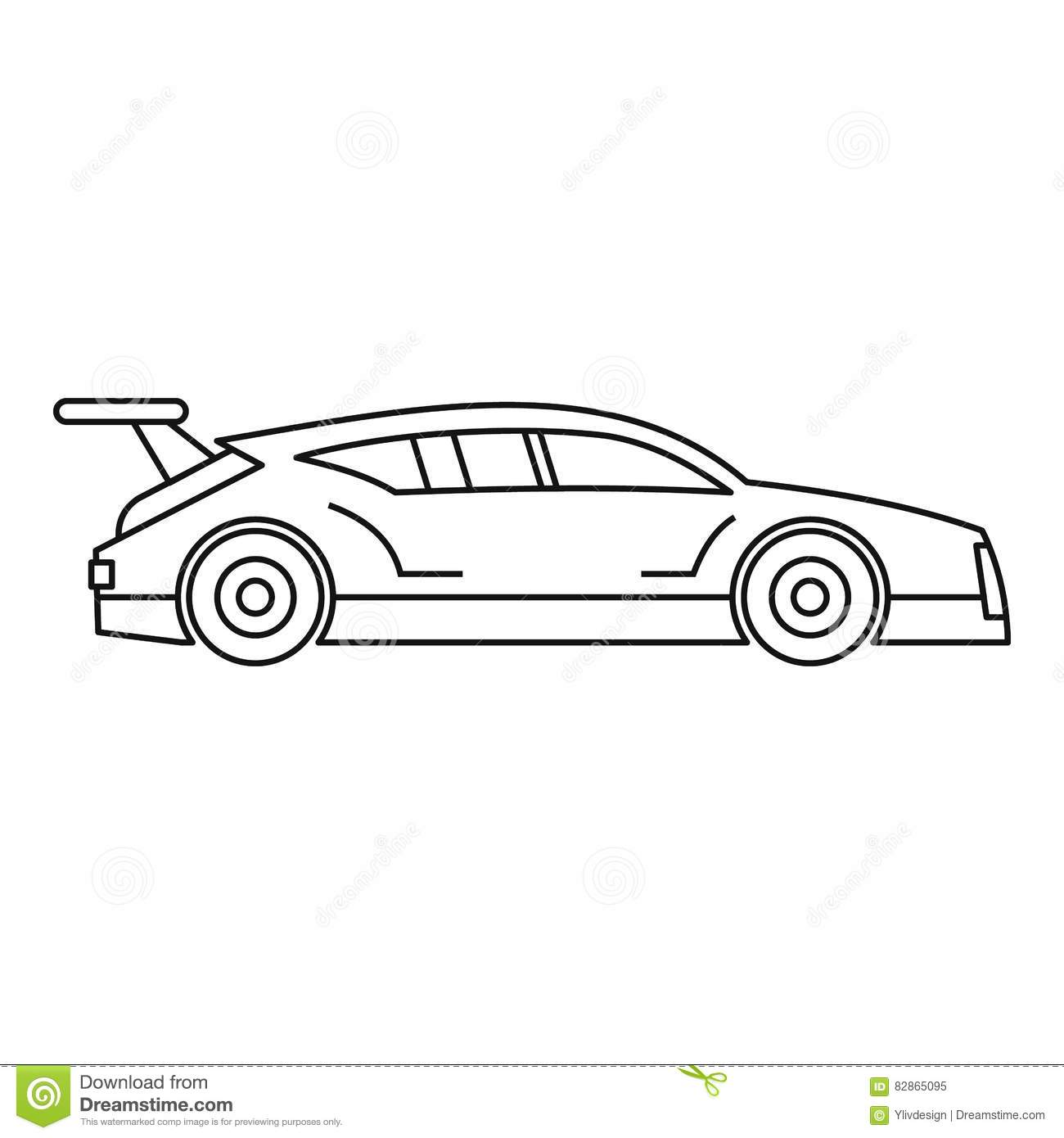 icon of a fast racing car in motion cartoon vector cartoondealer