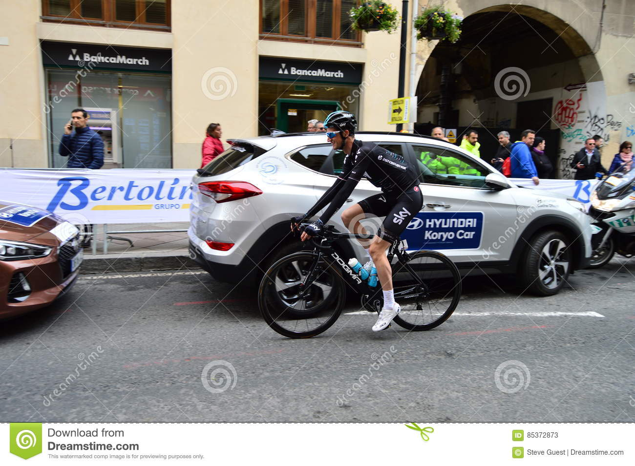 Racing Cyclist Wout Poels Team SKY