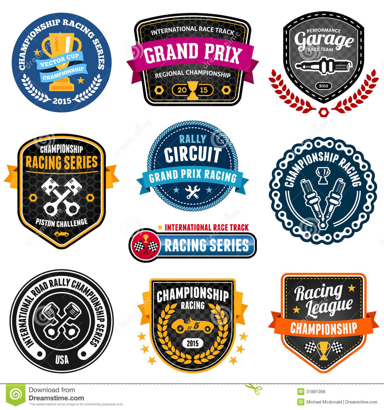 Racing Emblems Royalty Free Stock Photos Image 31881368
