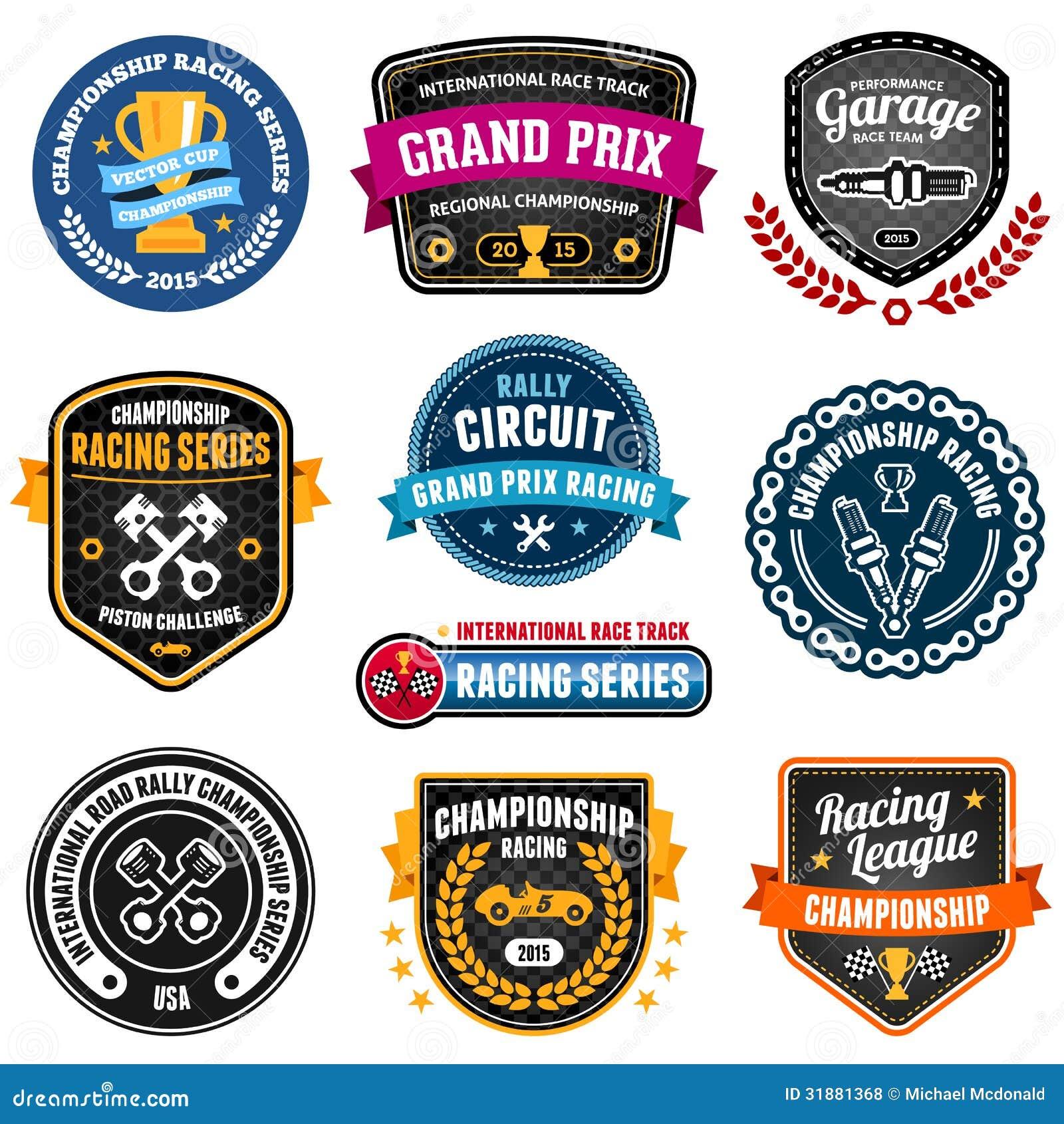 Racing Emblems Royalty Free Stock Photos Image 31881368